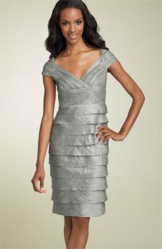 Adrianna Papell Shutter Pleat Dress with Beaded Waist Dress Picture, Tiered Dress, Adrianna Papell, Mother Of The Bride, Cap Sleeves, Bodycon Dress, Nordstrom, Formal Dresses, Elegant