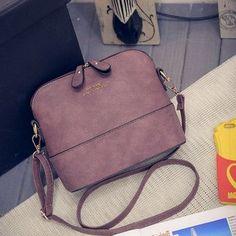 JIARUO Korean Retro Suede Bag Leather Women Small Shell Do Old Messenger Bag CrossBody Bag Lady Handbag Causal Travel Clutch