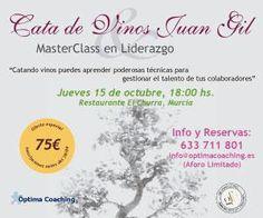 PROMOCIÓN SOCIOS AJE: Cata de Vinos + Master Class Liderazgo + Cena 75€