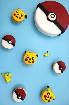 pokemon cupcakes, pokemon cakes
