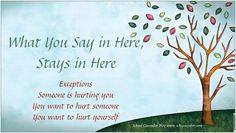 Tree What You Say in Here, Stays in Here Vinyl Banner $15.00 - School Counselor Blog Store