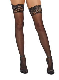 82cdb259e Dreamgirl Women s Sheer Thigh-High Stockings · Garter Belt And StockingsSexy  StockingsSheer Lace TopThigh ...
