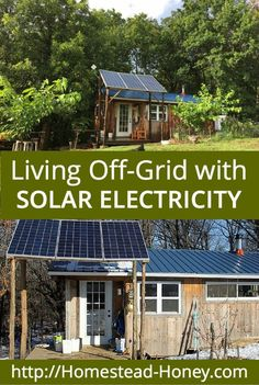 Is Solar Electricity right for your homestead? Learn about our experience creating an off-grid homestead, and how our solar electric system performs. | Homestead Honey