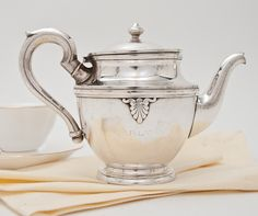 Sip tea from a vintage silver teapot with a history. From Hotel Carlton, Cannes, France.