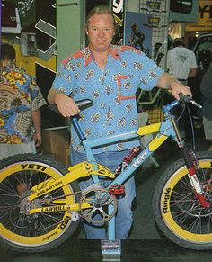 "1998 - John Parker is inducted into the mountain bike hall of fame. He then gets fired from Yeti, saying the cause was ""for being me""."