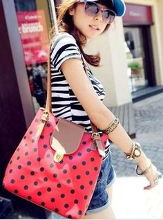 9f684641a1 New Arrival Dot Printed and Snap Fastener Design One-Shoulder Bag For  Female