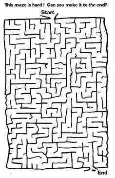 20 Best Hard Mazes Images Maze Puzzles Printable Mazes School