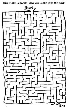 Maze 46 Coloring Page