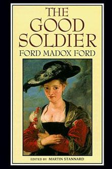 """2003, The Good Soldier (1915). Narrator John Dowell, wife Florence, his friend Edward Ashburnham (the """"good"""" soldier to whom the title refers) and Edward's wife Leonora appear to be two privileged couples leading lives of ease and insulated from any unpleasantness. However, all is not as it seems. Ford's narrator proves unreliable and the story is told using a series of flashbacks in non-chronological order which forces readers to fill in gaps, gradually revealing a very different reality."""