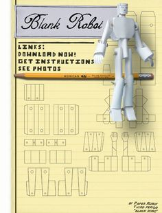 Robot Printable from Paper Robots 1999.com