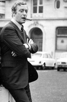 clynester:   Michael Caine in London, c. 1960s  This might be my all time favourite picture. How can you not love Michael Caine?