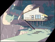 Steven Universe ep. Keystone Motel, Art Direction Jasmin Lai, Design: Steven Sugar and Emily Walus, Paint Amanda Winterstein and Ricky Cometa