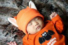 Naruto Hat  Orange Fox Hat  Fox Hat  Fox Fleece Hat  by QWear01
