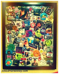 Button Collection Shadow Box. Yes, I saved all my buttons since I was a kid. Rather, than them hiding in a show box in storage, I created this box to display them in our man cave. It's fun to look at every once in a while and reminisce. See more at: www.jimedhardaway.com
