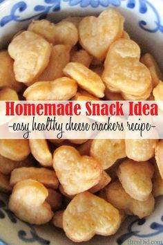 Need a healthy snack idea? Try this easy, from scratch homemade cheese crackers recipe from BrenDid. Homemade crackers are easy to make and are an easy way to eliminate preservatives and additives from your diet. brendid.com/...