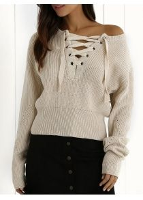 77ce7c0896 Lace Up Jumper -  24.64 Free Shipping