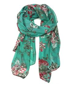 Another great find on #zulily! Turquoise Rose Scarf by East Cloud #zulilyfinds