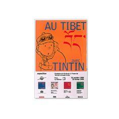 Affiche Au Tibet avec Tintin