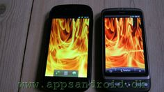 Google Nexus S (SLCD) and HTC Desire (Amoled).