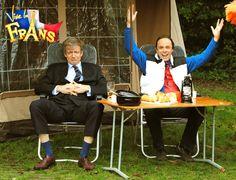 Frans Bauer ontvangt minister van Veiligheid en Justitie Ivo Opstelten op de camping. (seizoen 12)