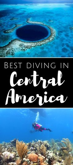 Best diving in Central America. From Belize to Honduras and Costa Rica, Central America offers some of the most intense experiences for scuba divers, adventurers and travellers. Find on this page the best places to dive in Central America, as well as my p http://www.deepbluediving.org/scuba-diving-gear-for-kids/ #scubadivinglocations