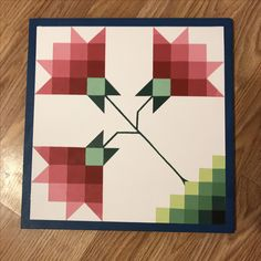 1ft x 1ft barn quilt for sale by Roseys Barn Quilts