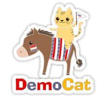 Democat (punny political cat) Sticker