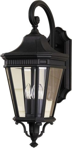 View the Murray Feiss OL5402 Traditional 3 Light Outdoor Wall Lantern from the Cotswold Lane Collection with Clear Beveled Glass Shades at LightingDirect.com.