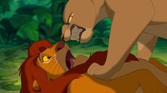 """The Mufasa drought also forces Nala to search for food outside of Pride Rock, where she (surprise, surprise) stumbles upon a grown-up Simba. 