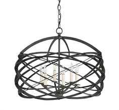 New from  Currey Company, the Horatio chandelier.