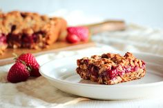 Strawberry Honey Oatmeal Bars by pastryaffair, via Flickr