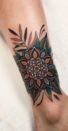 Mandala Tattoo Design, Flower Mandala Tattoo, Tattoo Designs, Colorful Mandala Tattoo, Mandala Tattoo On Back, Mehndi Designs, Colorful Sleeve Tattoos, Nature Tattoos, Body Art Tattoos
