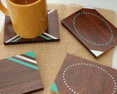 DIY Wood coasters.