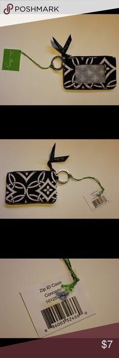 Vera Bradley zip ID case NWT Black and white patterned zip ID case from Vera Bradley. New with tags! Vera Bradley Accessories Key & Card Holders