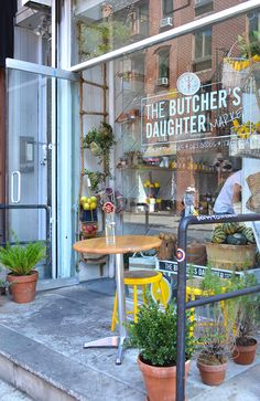 Kendra and some of the girls are going to The Butcher's Daughter. Best vegetarian bistro in the city.......