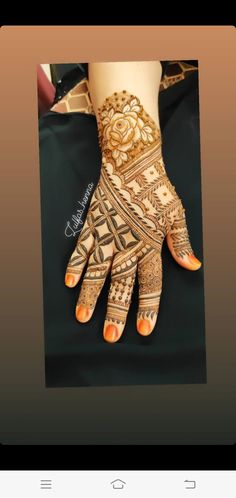 Mehndi Designs 2018, Stylish Mehndi Designs, Mehndi Design Photos, Mehndi Images, Finger Henna Designs, Mehndi Designs For Fingers, Mehndi Desine, Mahendi Design, Hand Embroidery Videos