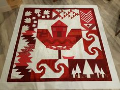 "The Spirit of Canada. ""Spruce It Up Quilt Shop"" Mystery Block of The Month! Check them out on Facebook! Celebrating Canada's 150th Birthday! Flag Quilt, Quilt Blocks, Quilting Patterns, Quilting Ideas, Canada Celebrations, Canadian Quilts, Quilts Canada, Happy Birthday Canada, Stuffed Animal Storage"