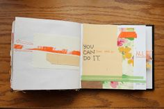 You don't have to do it all. Good art journal inspiration pages.