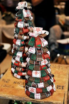 Preppy Christmas table top trees