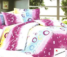Спално бельо Цветно настроение. Ефектно спално бельо в съчетание на нежни цветове, кръгове и цветя. Свеж и красив десен. Изключително меката и приятна материя от сатениран памук, допринася за уюта и комфорта на вашия сън. Чаршафите и калъфките са с еднакъв десен.