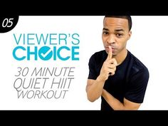 30 Min. Silent Cardio - Knee & Neighbor Friendly HIIT Workout | Viewer's Choice #05 - YouTube