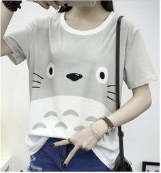 New Summer style Totoro 3D print fashion short sleeve t shirt Casual Outfits top…