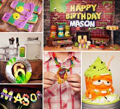 Trashy drinks, a disgustingly cute dessert table & more Creative Trash Pack Birthday Party Ideas from Justine of Sensationally Sweet Events! http://hwtm.me/14ZaBfe #TrashPack