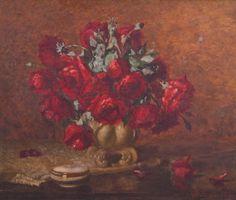 GIUSEPPE PERISSINOTTO - (1881 - 1965)    Título: Flores  Técnica: óleo sobre tela  Medidas: 50 x 60 cm  Assinatura: canto inferior direito