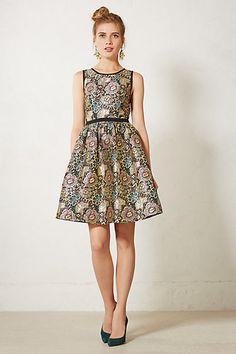 Anthropologie - Starshine Brocade Dress
