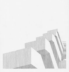 Ongoing project documenting detail elements of several, seminal brutalist buildings. Architecture Concept Drawings, Architecture Sketchbook, Pavilion Architecture, Urban Architecture, Architecture Portfolio, Education Architecture, Architecture Student, Building Sketch, Brutalist