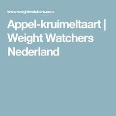 Appel-kruimeltaart | Weight Watchers Nederland