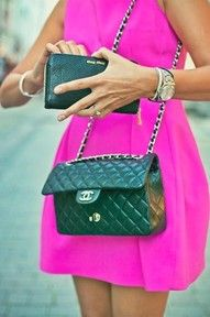 hot pink and chanel = <3