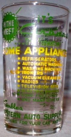 Gamble's Western Auto Supply Glass
