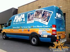 Animal Welfare Association Fleet Wraps - Sprinter Fleet Graphics
